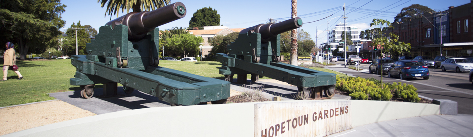 Hopetoun Gardens cannon, Glen Huntly Road, Elsternwick