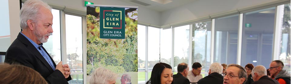 People at Glen Eira's shopping strip community consultation session